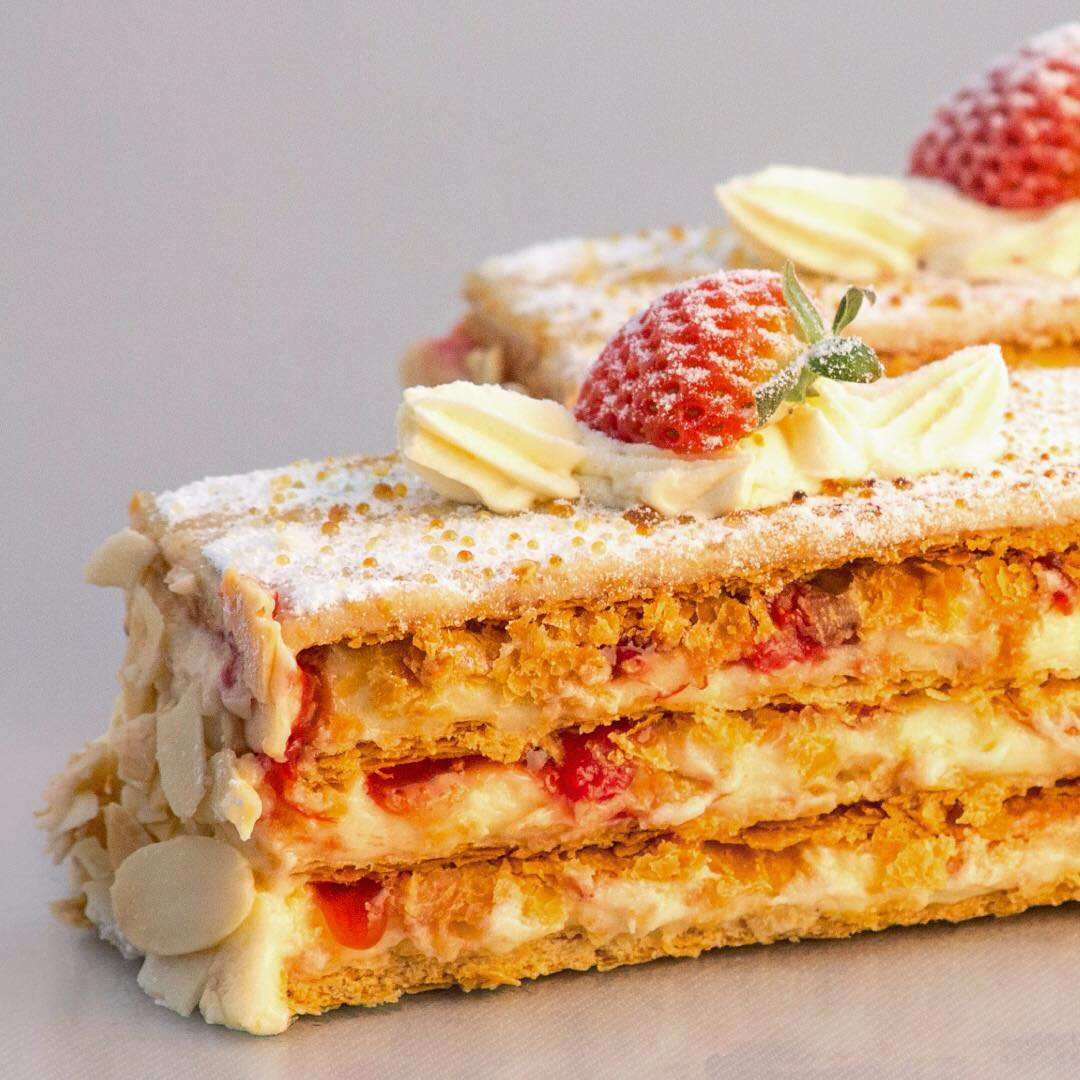 Strawberry Custard Slice limnosbakers