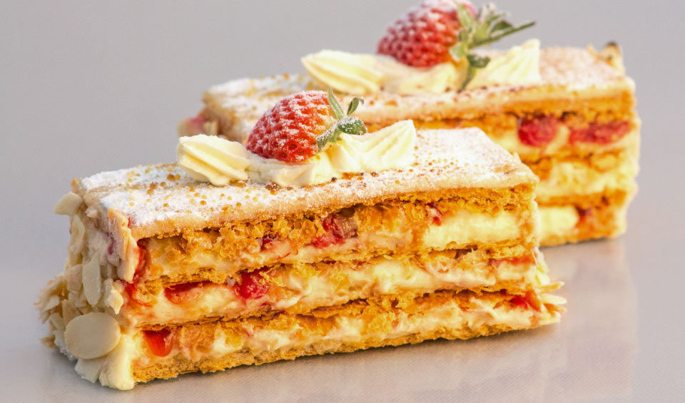 strawberry-custard